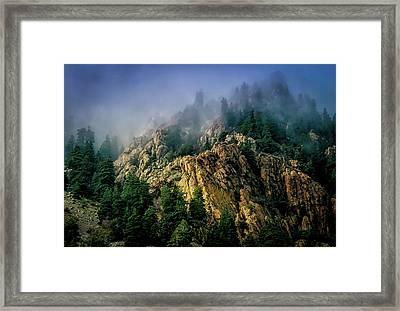 Stormy Wasatch- Fog Framed Print