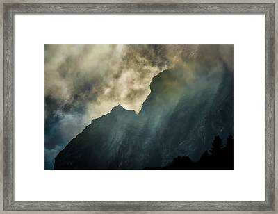 Stormy Wasatch- Rays Framed Print