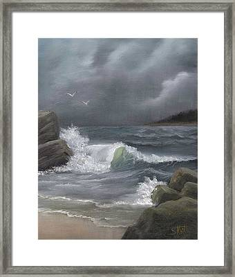 Stormy Waters Framed Print by Sheri Keith