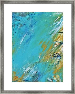 Framed Print featuring the painting Stormy Weather by Diana Bursztein