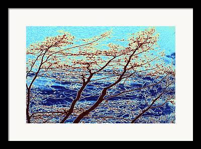 Turbulent Skies Digital Art Framed Prints