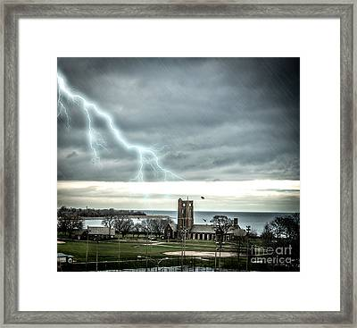 Stormy Wednesday Over Chicago Framed Print by Linda Matlow