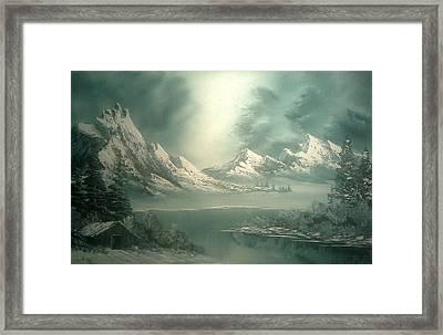 Stormy Winter Framed Print