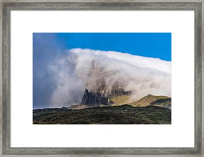 Framed Print featuring the photograph Storr In Cloud by Gary Eason