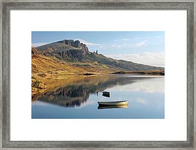 Framed Print featuring the photograph Storr Reflection by Grant Glendinning