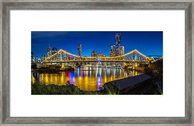 Story Bridge- Brisbane Queensland Framed Print by Mark Lucey
