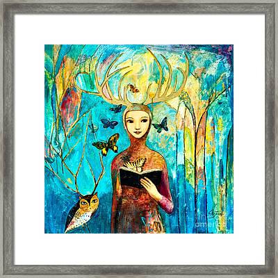 Story Of Forest Framed Print by Shijun Munns