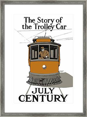 Story Of The Trolley - Vintage Americana Framed Print