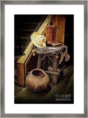 The Story Of The Southwest Framed Print by Lucinda Walter