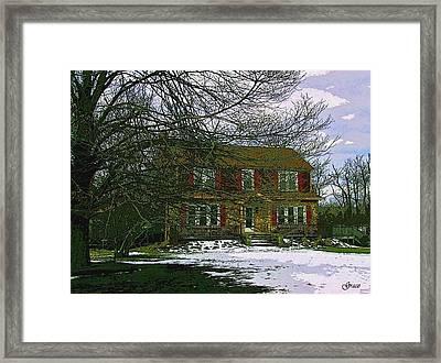 Storybook Cottage Framed Print by Julie Grace