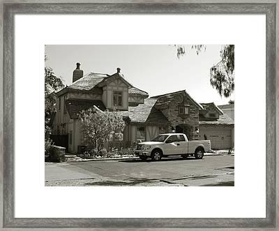 Storybook Home Framed Print by Gordon Beck