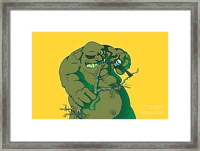 Storybook Ogre Shooting Heads Framed Print by Jorgo Photography - Wall Art Gallery