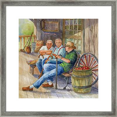 Storyteller Friends Framed Print