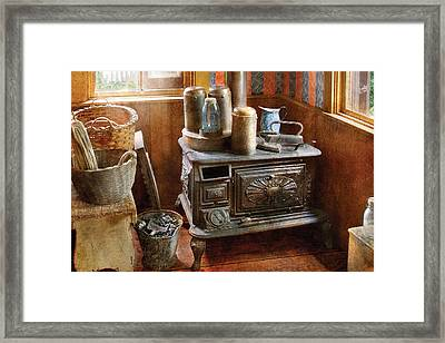 Stove - Remember The Good Ol Days When  Framed Print by Mike Savad