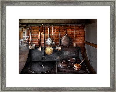 Stove - The Gourmet Chef  Framed Print by Mike Savad