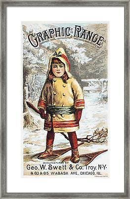 Stove Trade Card, C1890 Framed Print by Granger