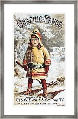 Stove Trade Card, C1890 Framed Print by Granger
