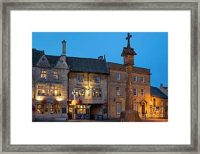 Framed Print featuring the photograph Stow On The Wold - Twilight by Brian Jannsen