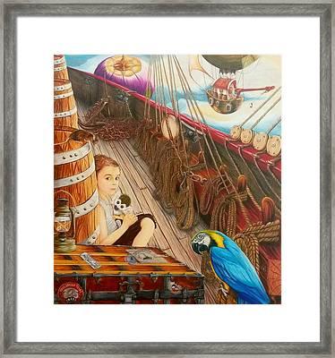 Stowaway  Framed Print by Terie keel Imaginarium