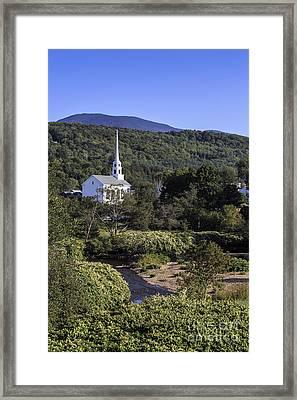 Stowe Vermont Framed Print by Edward Fielding