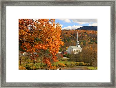 Stowe Vermont In Autumn Framed Print