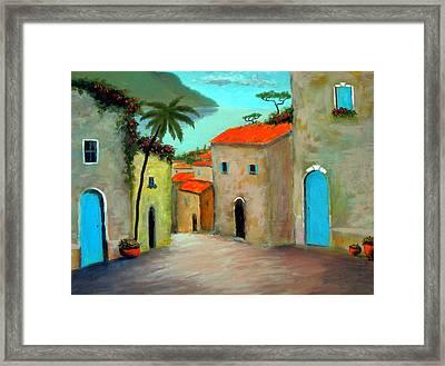Strada A Camogli Framed Print by Larry Cirigliano