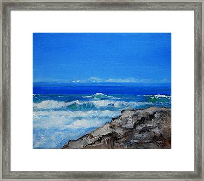 Stradbroke Island Framed Print