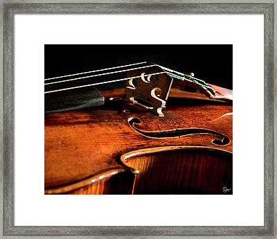 Framed Print featuring the photograph Stradivarius by Endre Balogh