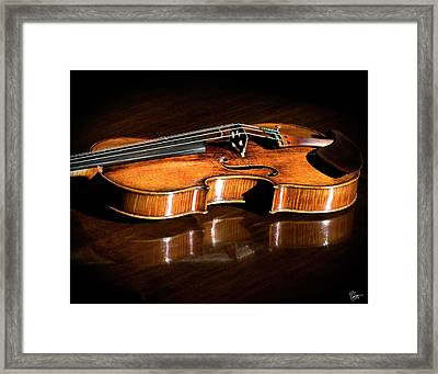 Stradivarius In Sunlight Framed Print by Endre Balogh