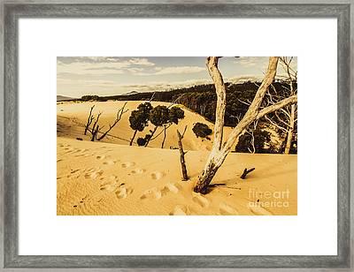Strahan Sand Dune Landscape Framed Print