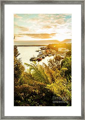 Strahan Sunset Framed Print