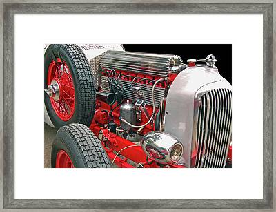 Straight Eight Framed Print by Bill Dutting
