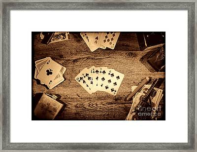 Straight Flush Framed Print