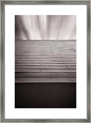 Straight Line Above Framed Print