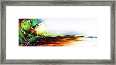 Straight Paths Framed Print