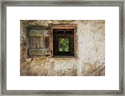 Straight Through Framed Print