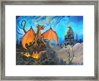 Straight To The Casttttle Framed Print by Kevin F Heuman