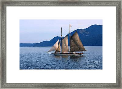 Strait Of Juan De Fuca Sailboat Framed Print