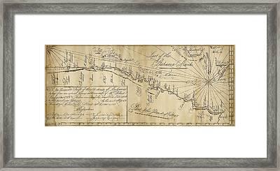 Straits Of Bahama Framed Print