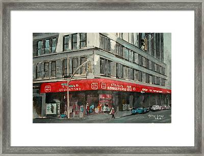 Strand Bookstore Framed Print by George Lucas