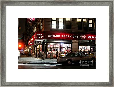 Strand Bookstore Framed Print by Nishanth Gopinathan