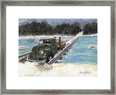 Stranded On Rockford Bridge Framed Print by Penny Everhart