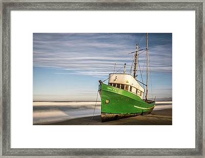 Stranded On The Beach Framed Print by Jon Glaser