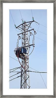 Stranded - Pylon Tower Framed Print