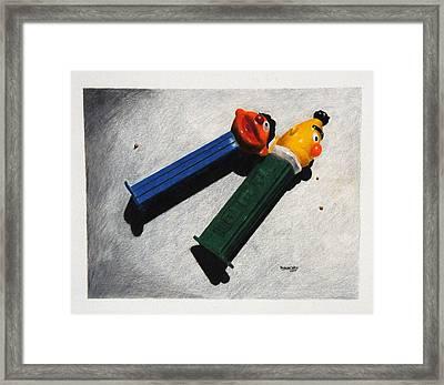 Strange Bedfellows Framed Print