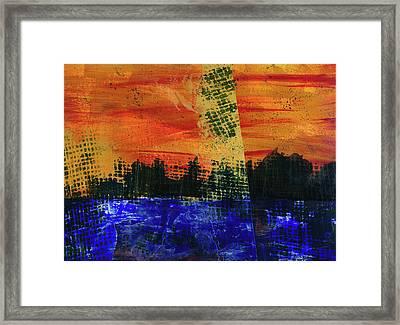 Strange City Framed Print