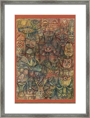 Strange Garden Framed Print by Paul Klee