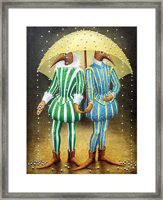 Strange Rain Framed Print by Lolita Bronzini