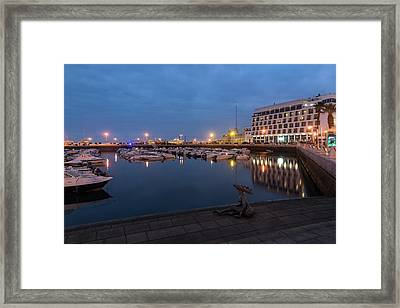 Strange Sea Creature - Unconventional Sculpture At Faro Waterfront Framed Print