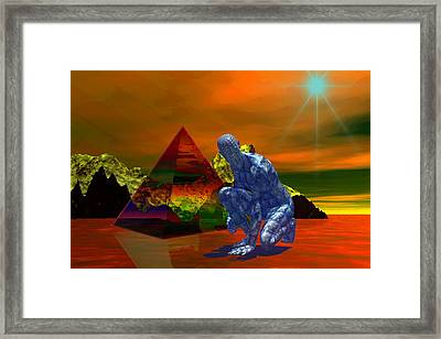 Framed Print featuring the digital art Stranger In A Strange Land by Shadowlea Is